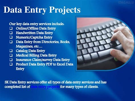 data entry data entry projects