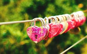 Romantic Lock Line Wallpaper