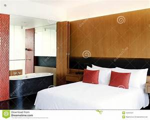 Master Bedroom Open To Bathroom Royalty Free Stock