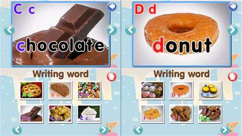 abc cuisines abc food flashcard read write android apps on play