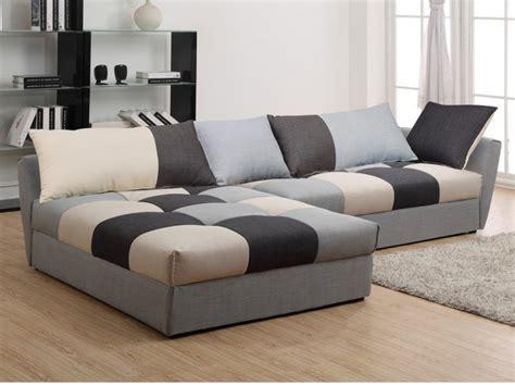 canapé grande profondeur canapé angle convertible en tissu gris ou chocolat romane