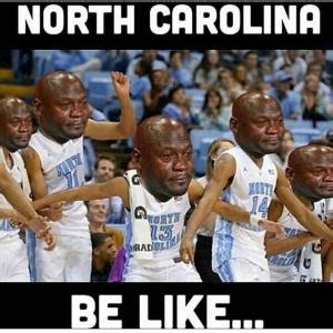 Unc Basketball Meme - the internet reacts to unc losing at the buzzer with countless crying jordan memes