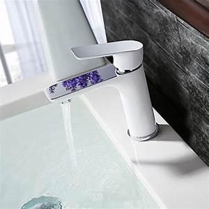Mitigeur Salle De Bain Pas Cher : homelody robinet de lavabo mitigeur pour vasque blanc ~ Edinachiropracticcenter.com Idées de Décoration
