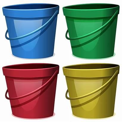Vector Bucket Water Buckets Resources Colors System