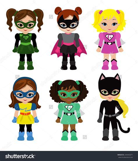 Cute Girl Superhero Clip Art