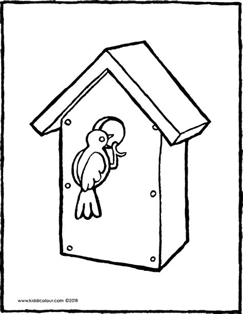 Kleurplaat Vogelhuis by Animals Colouring Pages Kiddicolour