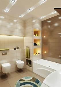 Bilder Bäder Einrichten : badezimmer kleines beleuchtung idee einbauregal indirekt licht bidet house pinterest ~ Sanjose-hotels-ca.com Haus und Dekorationen