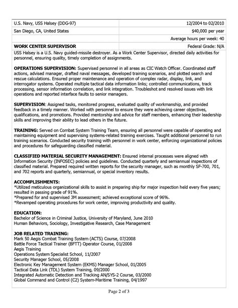 Usajobs Resume Help by Resume Sles Exles Resume Writers