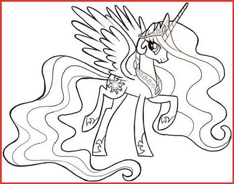 Ausmalbilder My Little Pony Prinzessin Celestia