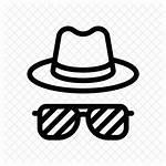Icon Goggles Icons Detective Investigate Spy Hat