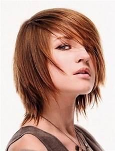 Medium Length Layered Choppy Wispy Hairstyle ...