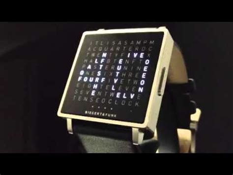 qlocktwo by biegert and funk time in words
