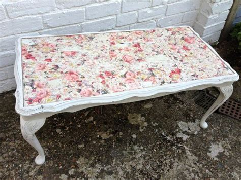 upcycled victorian rectangular coffee table w rose