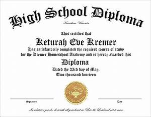 High school home school diploma cover diploma sheet 3610 for Printable homeschool diploma