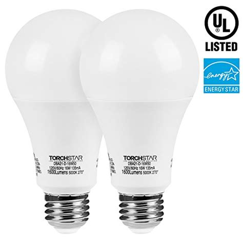 torchstar led dimmable 100w equivalent a21 bulb energy