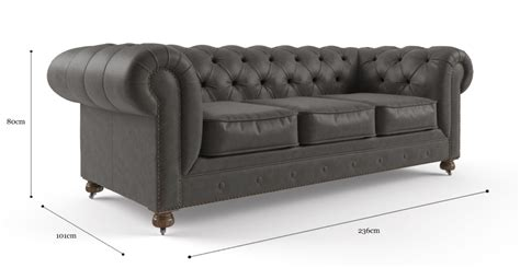 3 5 Seater Sofa by Buy Camden Chesterfield Leather 3 5 Seater Sofa In