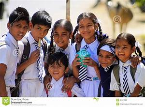 Indian school children editorial image. Image of cute ...