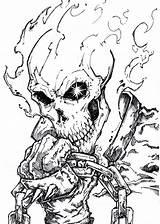 Rider Ghost Deviantart Coloring Chrisozfulton Dibujos Spawn Pencil Marvel Tattoo Drawing Colorear Comic Flames Template Fantasma Comics Face Sketch Skull sketch template