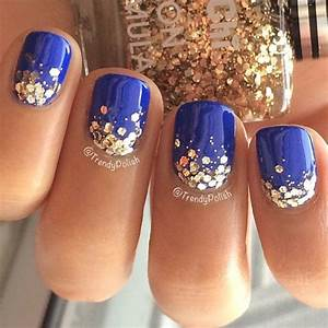 Blue nail polish designs art styling