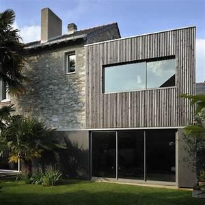 Extension Maison Ancienne : extension en bois d 39 une maison en pierre extension ~ Louise-bijoux.com Idées de Décoration