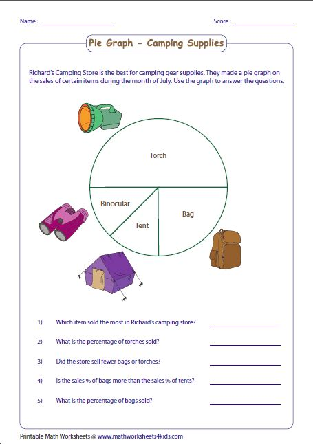 pie chart worksheets pie graph worksheets