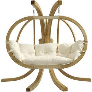 a hanging chair with stand located indoor mike davies s