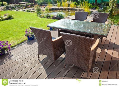 luxury rattan garden furniture royalty free stock