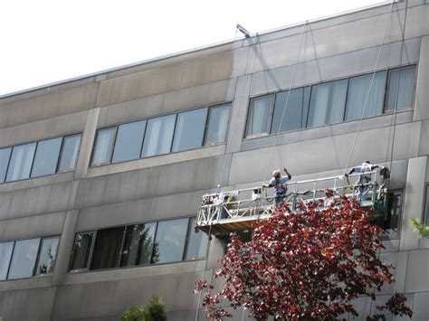 curtain wall cleaning and bronze aluminum fa 231 ade restoration