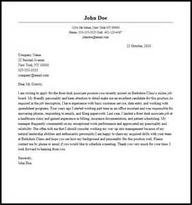 resume for front desk associate professional front desk associate cover letter sle writing guide coverletternow