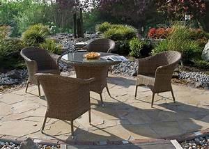 Polyrattan Tisch Rund : zebra tisch hastings 5320 walnut esstisch polyrattan art jardin ~ Orissabook.com Haus und Dekorationen