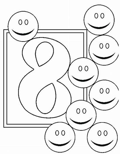 Number Coloring Pages Printable Getcolorings