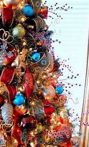 1000 images about Red & Blue Christmas Tree s on