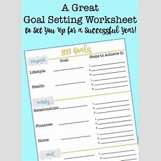 A Great Goal Setting Worksheet To Set You Up For A Successful Year! Momof6