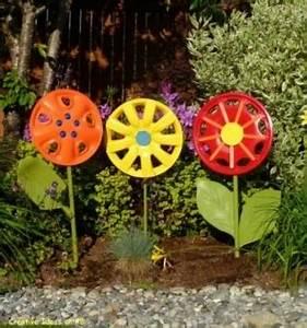 Decorar el jardín con llantas