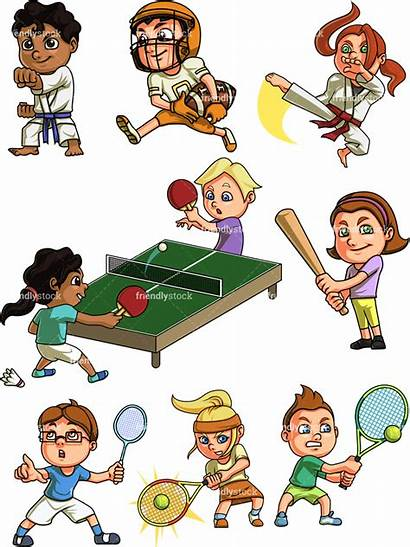 Sports Playing Clipart Cartoon Clip Doing Vector