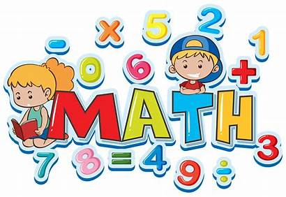 Math Numbers Word Maths Font Many Vector