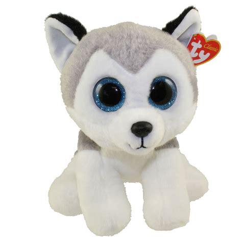 ty classic plush buff  husky dog