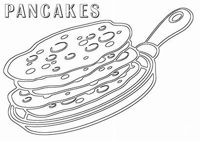 Pancake Coloring Pages