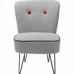 Fauteuil Design Blanc : fauteuil design florida noir et blanc kare design ~ Teatrodelosmanantiales.com Idées de Décoration