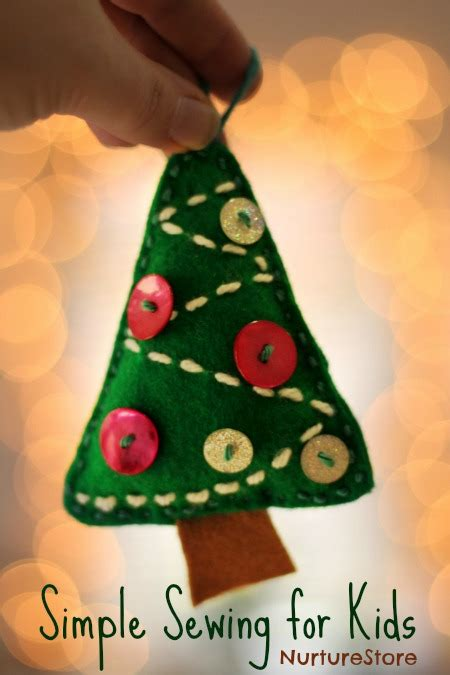 simple sewing  kids christmas tree decoration