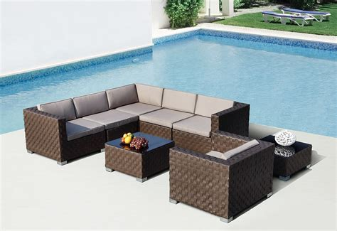 barbados modern sectional outdoor sofa set