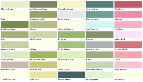 lowes paint color chart house paint color chart chip