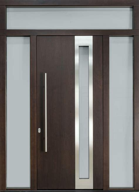 mahogany wood veneer solid wood front entry door single