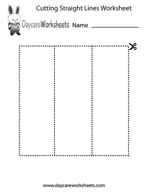 preschool cutting straight lines worksheet