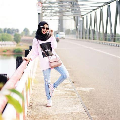 busana muslim modern wanita 14 model baju santai casual remaja muslimah terbaru