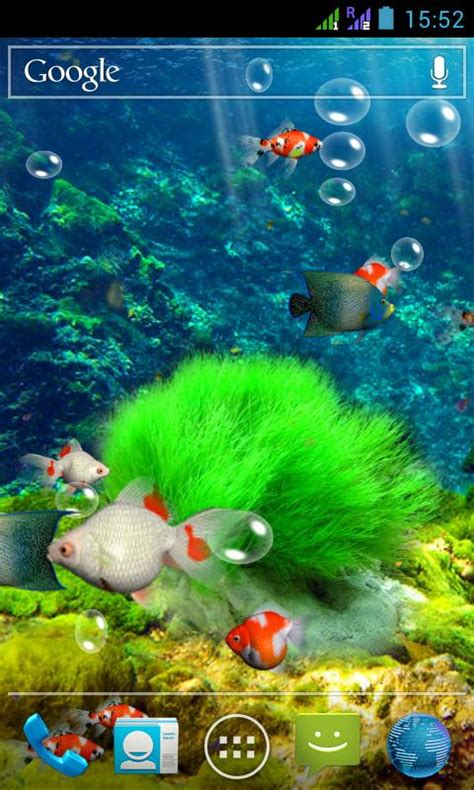 Animated Aquarium Wallpaper For Android - aquarium 3d live wallpaper android apps on play