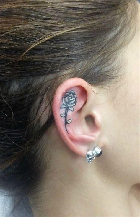 tiny  ear tattoos   prettier   piercing glamour