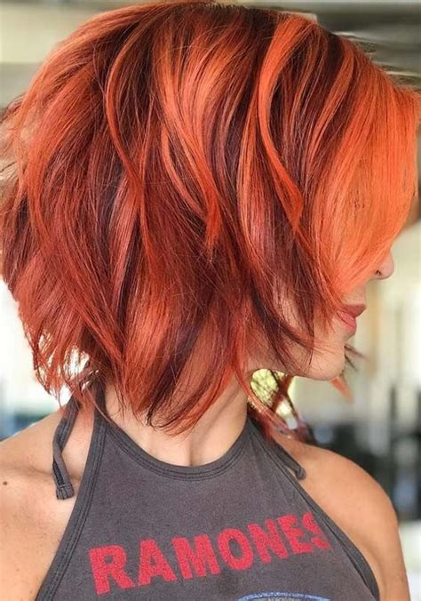 56 Modern Red Hair Colors For Short Hair In 2018 Cute