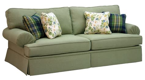 westport stationary sofa in olive gingham check fabric by