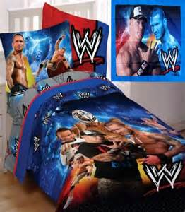 wwe wrestling champions twin comforter sheets pillowsham